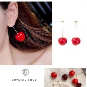 Restocked🍒Adorable Cherry Drop Earrings